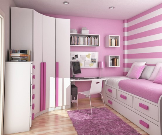 bedroom, girl, pink, teenage room