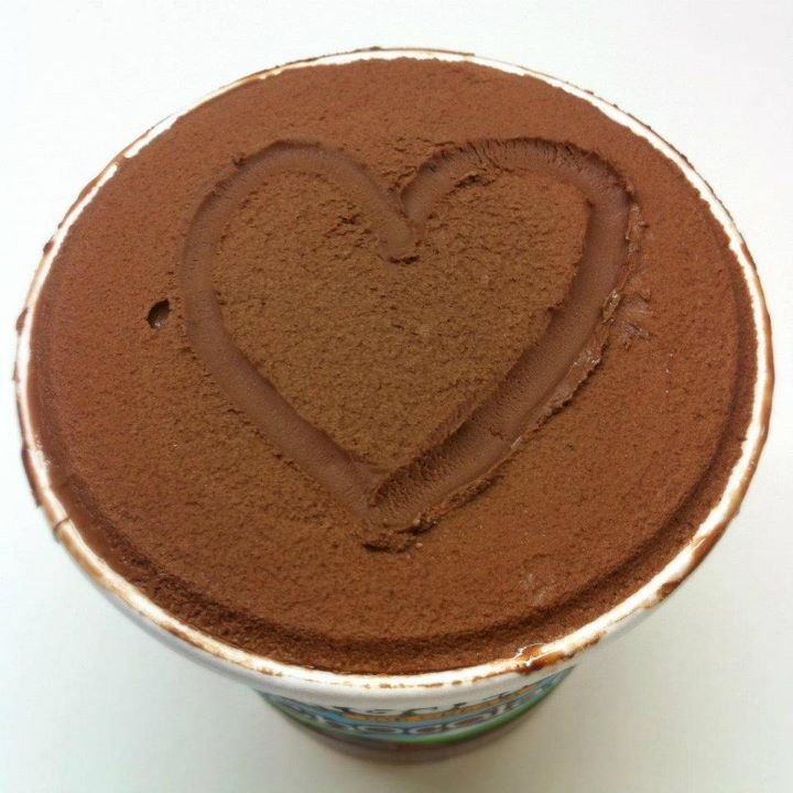 ben and jerrys ice-cream, chocolate ice-cream, heart, ice-cream, love