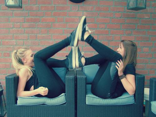 best friends, black, blonde, friends, fun, girls, love, photography, vans