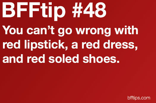 bfftips, dress, fashion, heels, lipstick