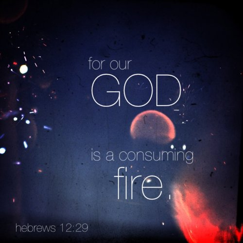 bible, consuming, consuming fire, fire, god, hebrews, jesus