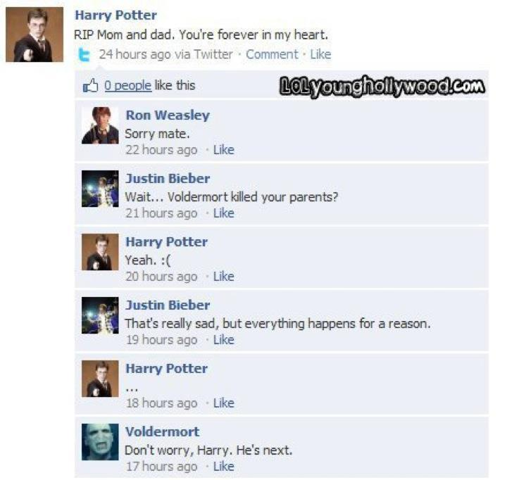 bieber, epic, funny, harry potter, justin bieber