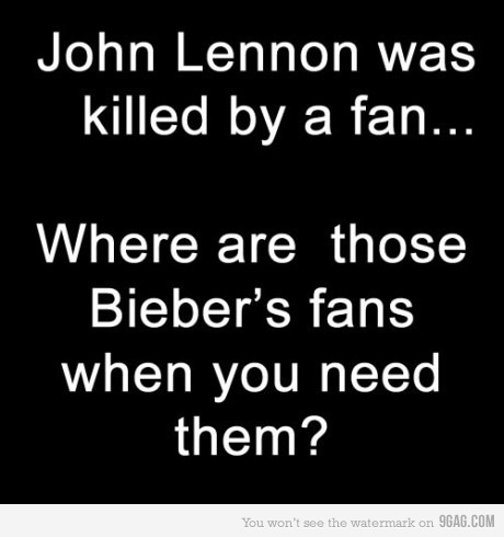 bieber, fan, john lennon, killed, text
