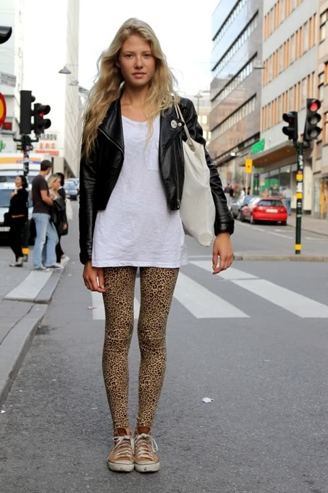 biker jacket, blond, easy style, fashion, girl
