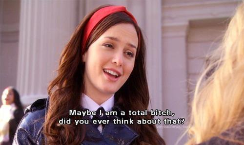 bitch, blair waldorf, fashion, girl, gossip girl, hair