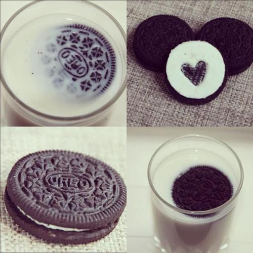 black & white, cute, heart, oreo