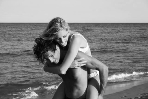 black and white, blonde, boy, casal, couple, cute, girl, vintage