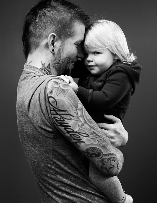 black and white, blonde, boy, child, cute, girl, guy, photo, smile, tattos
