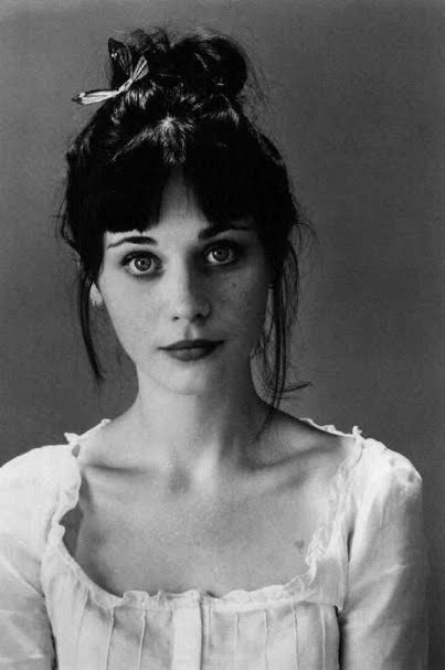 black and white, brunette, girl, woman, zooey deschanel