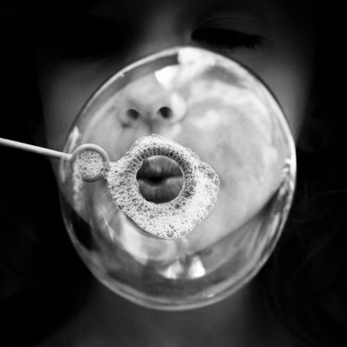 black and white, bubbles, edge, eyes, face