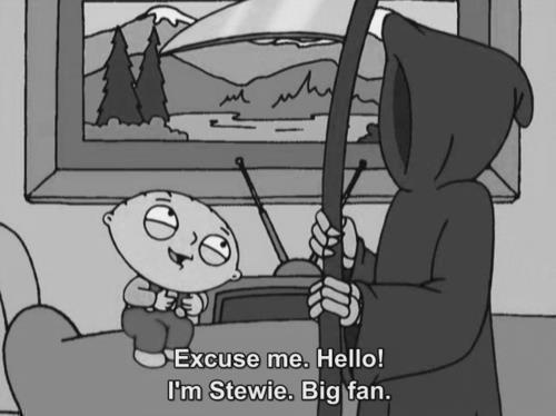 black and white, family guy, grim reaper