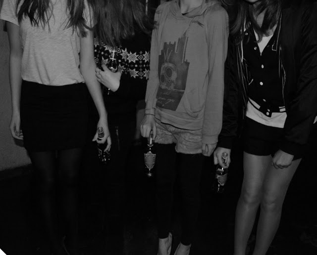 black and white, fashion, friends, girl, girls