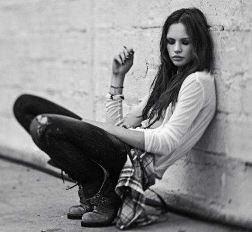 black and white, fashion, girl, grunge, photography