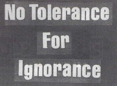 black and white, ignorance, text, tolerance