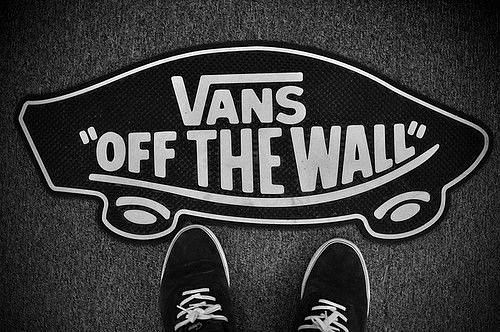 black and white, shoes, vans, vans off the wall