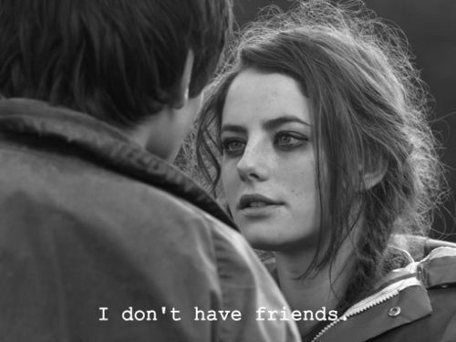 black, black & white, black and white, effy stonem, grey, lonely, photo, quote, skins, text, white