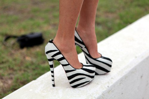 black, black and white, cool, high heels, nice