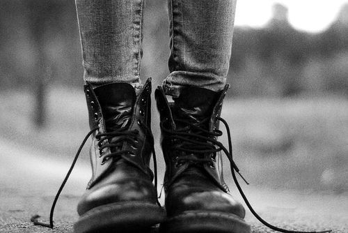 black, black and white, emo, fashion, leather, rock, rock chick, shoes, style
