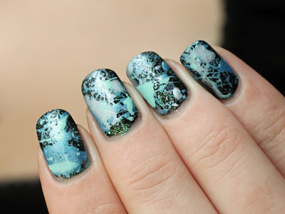 black, blue, cute, girly, nail