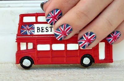 black, blue, england, fashion, fofo *u*, london, nail art, perfect, red, so cute, white