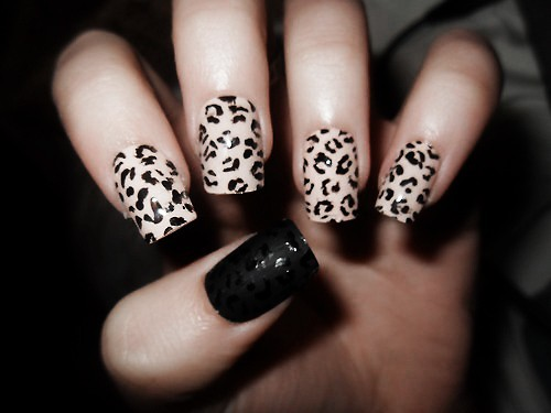 The Awesome Cheetah nail art tumblr Picture