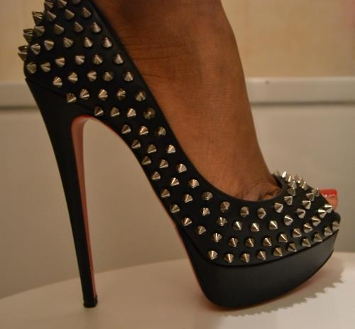 black, christian louboutin, fashion, heels, louboutin