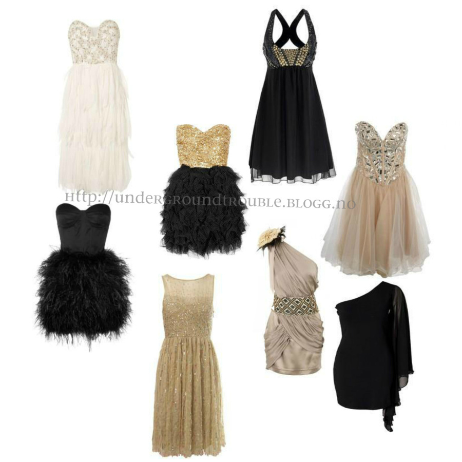 black, dress, dresses, gold, golden