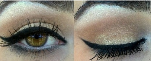black, eye, eyeliner, falsies, lashes