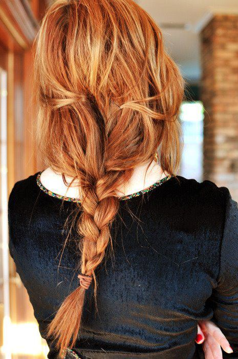 black, fashion, ginger, girl, hair, hairstyle, photography, plait, red, redhead