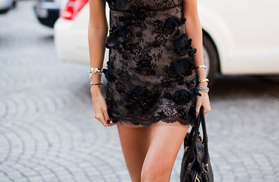 black, fashion, girl, lace, purse