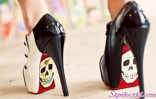 black, shoes, skulls