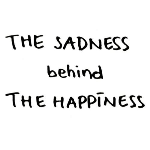 black&white, happiness, life, quote, sadness