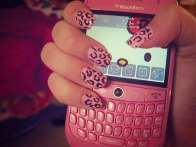 blackberry, cute, girl, hello kitty, leopard, phone, pink