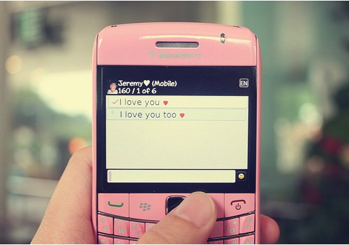 blackberry, cute, i love you, love, phone
