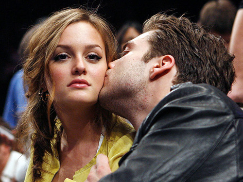 blair waldorf, couple, girl, gossip girl, kiss, leighton meester, love, sebastian stan