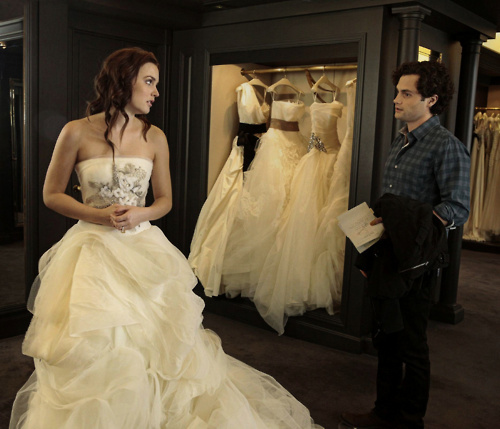 blair waldorf, dan humphrey, fashion, gossip girl, wedding dress