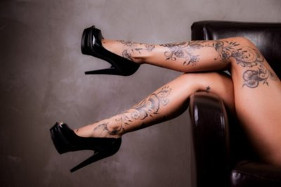 blak, heels, high heels, legs, tatoos