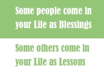 blessings, come, lessons, life, others