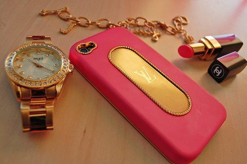 bling, fashion, gold, louis vuitton, michael kors