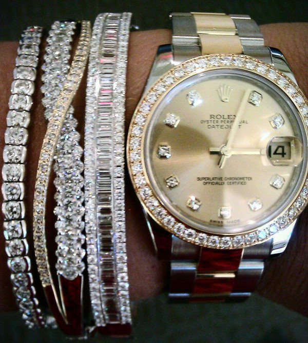 bling, fashion, gold, michael kors, rolex