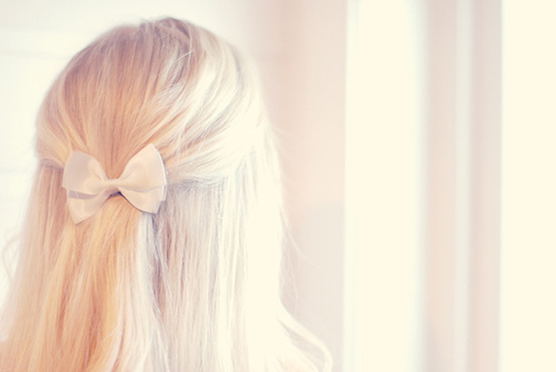 blond, blonde, bow, girl, hair