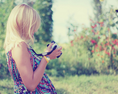 blond, blonde, camera, cute, girl