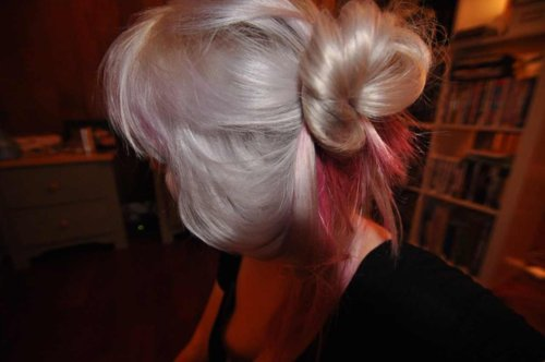 blond, charlavail, color, girl, hair, pink