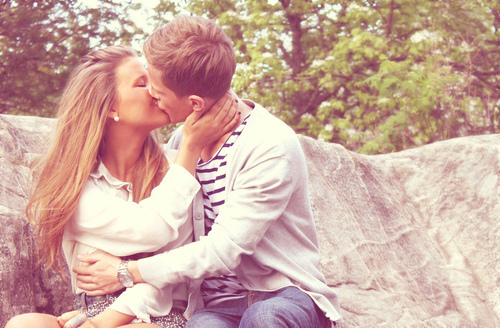 blonde, blondy, boy, couple, cute, girl, handsome, kiss, photography, pretty