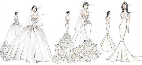 blonde, bride, fashion, illustration, kim kardashian