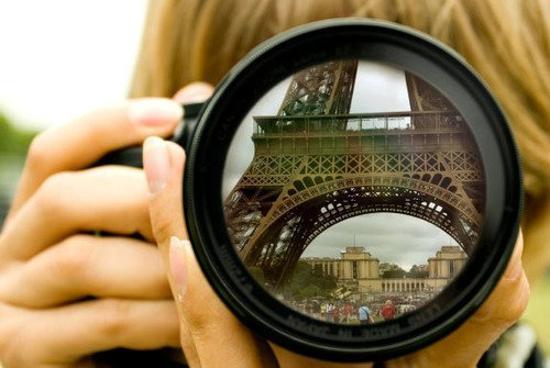 blonde, camera, eiffel tower, girl, paris