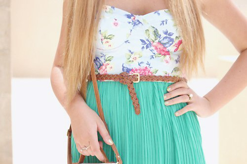 blonde, color, dress, girl, love, summer