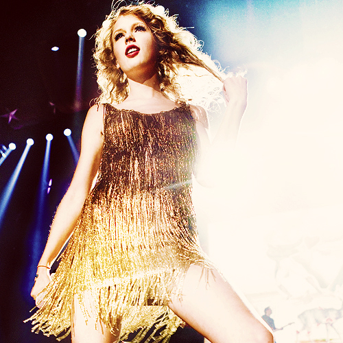 blonde, concert, dress, golden, golden dress