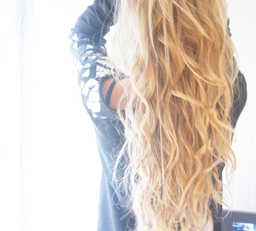 blonde, curly, girl, hair, long