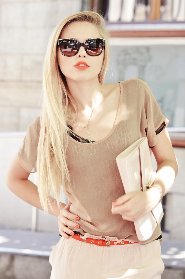 blonde, cute, fashion, girl, glasses